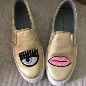 Chiara Ferragni eye and lip  Loafers flat